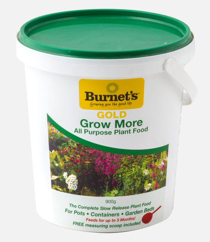 Burnets Gold Slow Release GROW MORE Fertilser 900gm