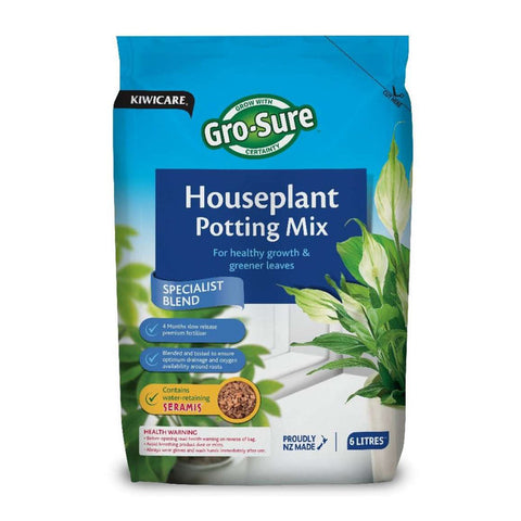 Kiwicare Gro-Sure Houseplant Potting Mix 6L