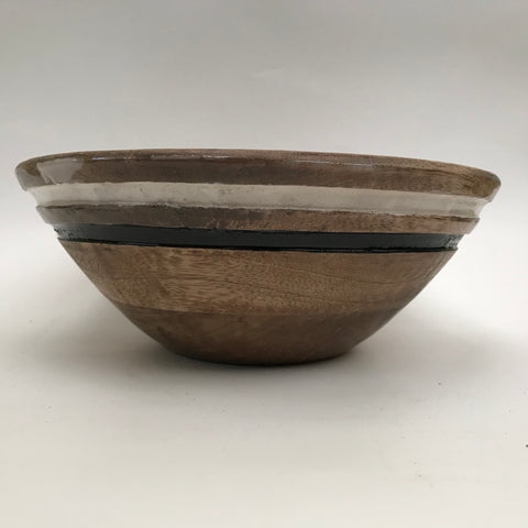 Stripped Wooden Bowls