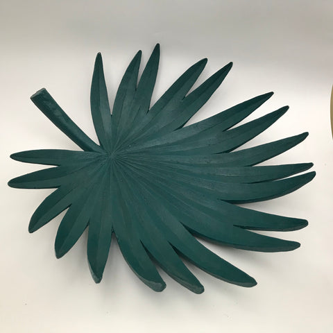 Palm Leaf Plate - Teal 40cm