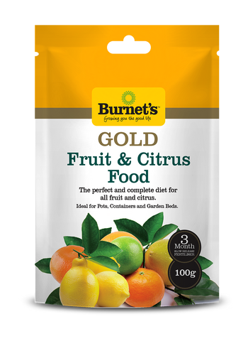 Burnets Gold Slow Release FRUIT & CITRUS Fertilser 100gm