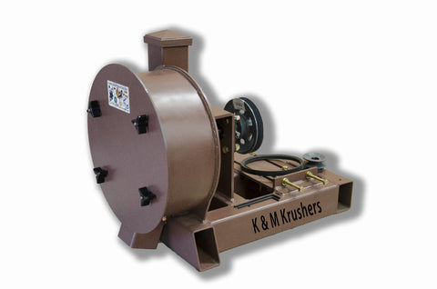 "K & M Krusher - Rock/Ore Crusher 11"" Drum 2-1/2"" Infeed-Rockwell #58 Hammers Gas/No Motor"