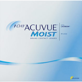 1-Day Acuvue Moist 90 pack BC 8.50