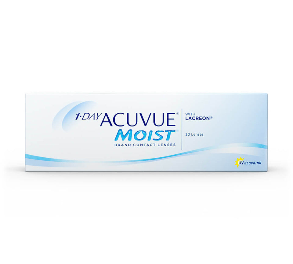 1-Day Acuvue Moist 30 pack BC 8.50