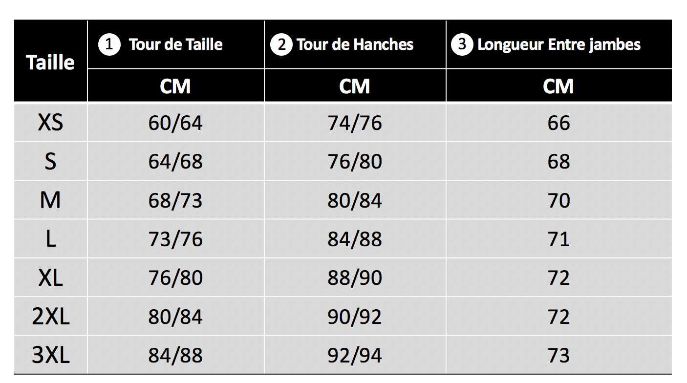 Detailed fitlegg size guide