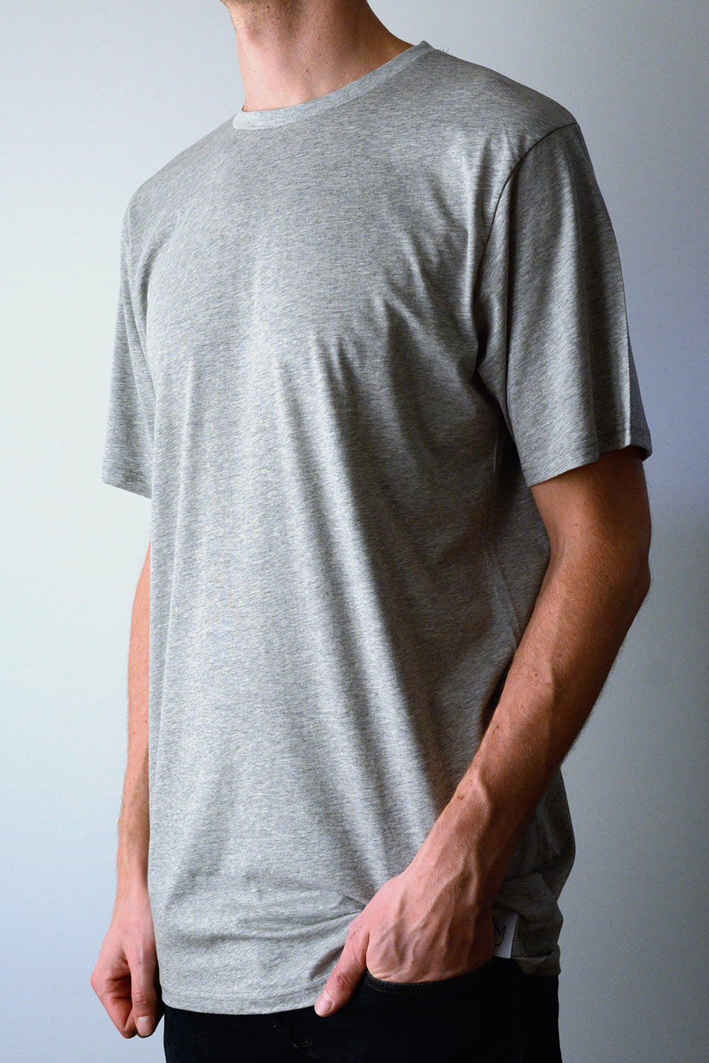 Long Grey Melange T-shirt