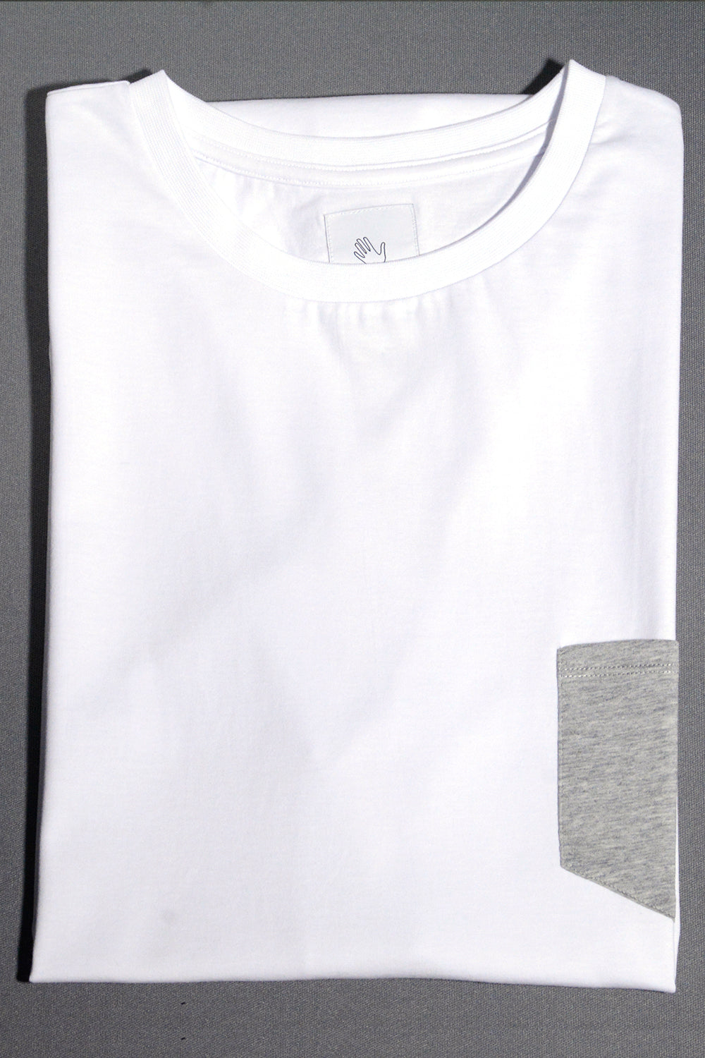 Long White T-shirt (with pocket)