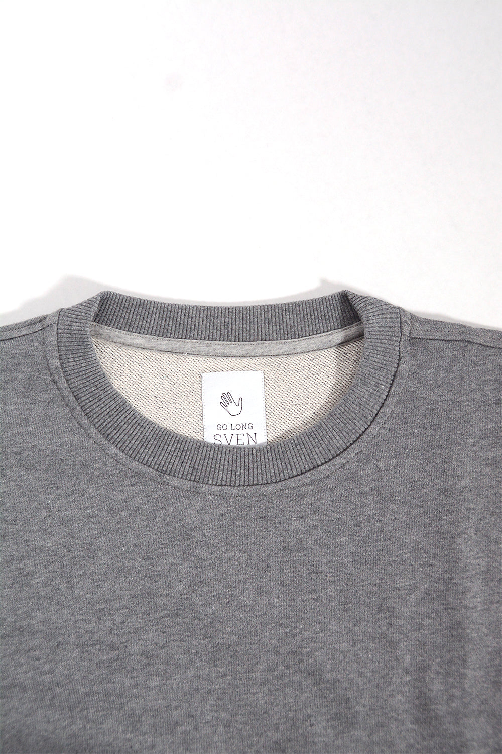 Long Grey Melange Sweatshirt
