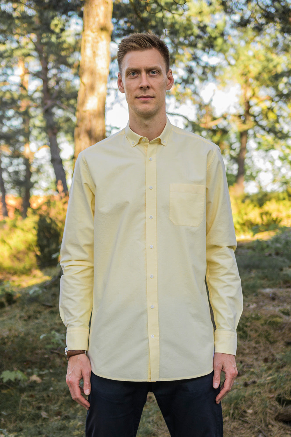 Long Yellow Oxford Shirt