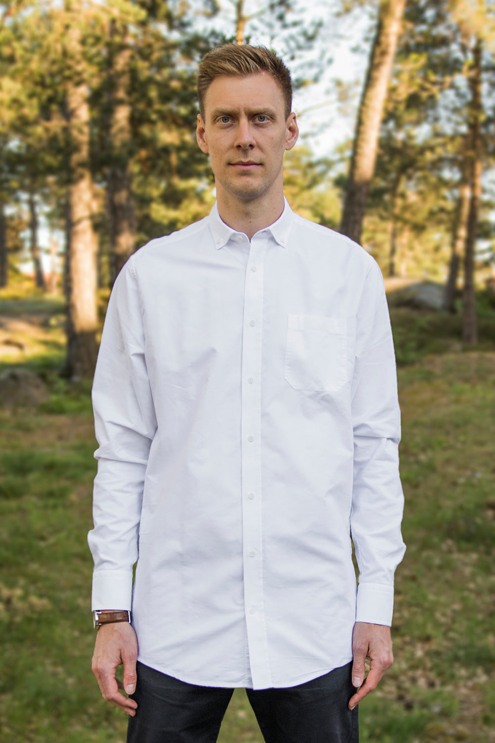 Long White Oxford Shirt