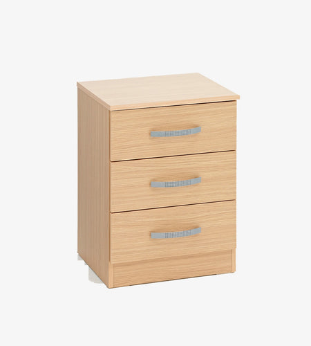 Economy 3 Drawers Bedside Table