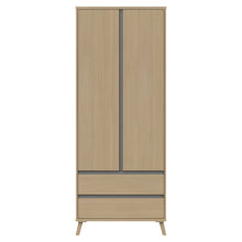 Load image into Gallery viewer, Teddington Double 2 Drawer Wardrobe