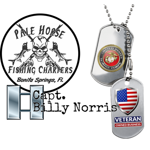 Pale Horse Fishing Charters with Capt. Billy Norris.  Veteran owned business