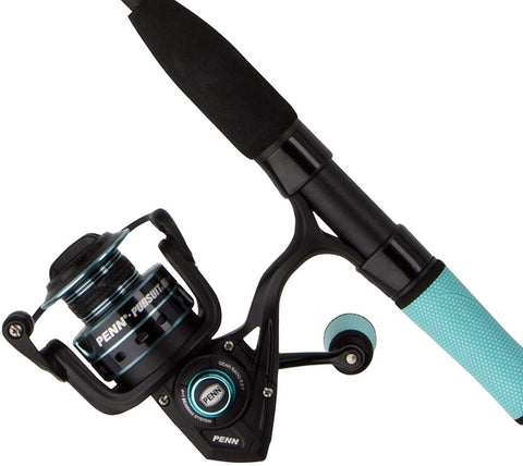PENN® Pursuit III™ LE spinning combo 5000 Reel Teal Winn Grip Accents