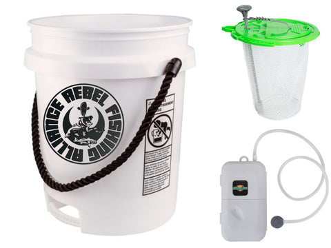 Bait Butler and RFA Rope Handle Bucket combo