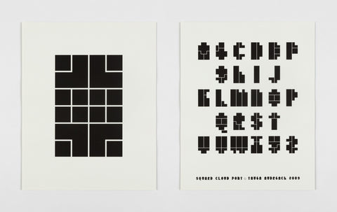 Square Cloud Type Specimen Poster