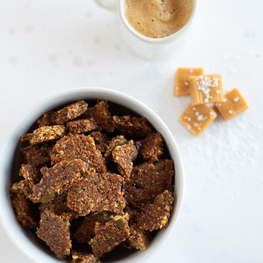 salted caramel toffee granola