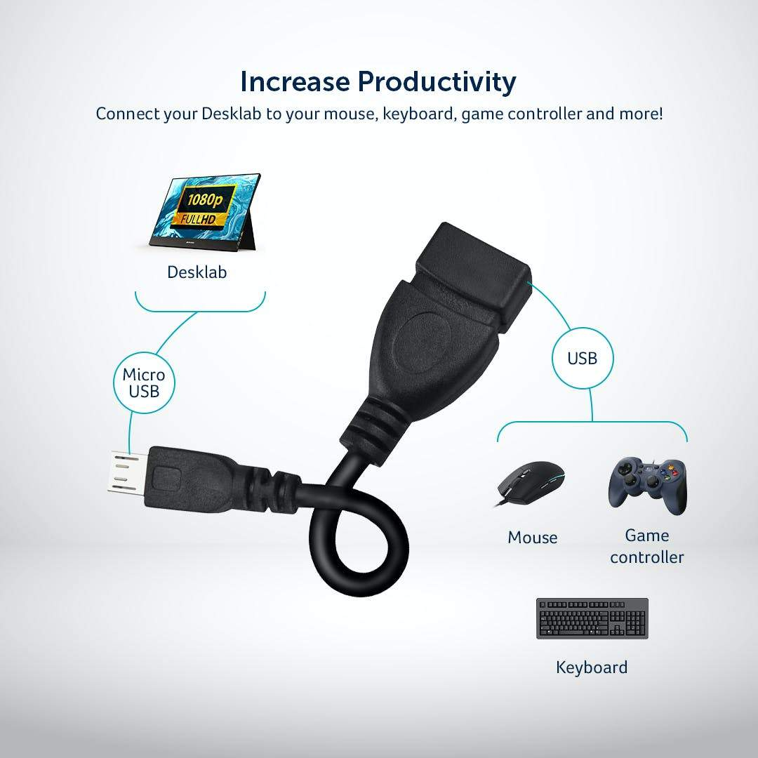 Micro USB 2.0 to Female USB