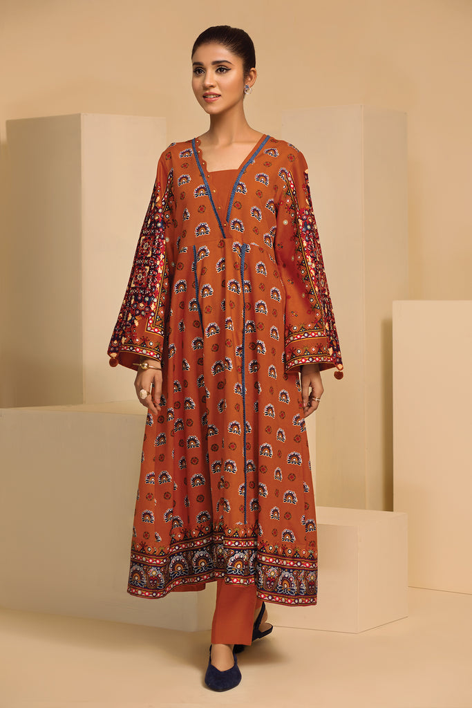 42003662-Printed Linen 2PC
