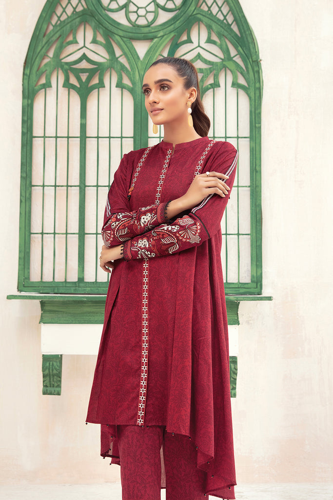 42101003-Embroidered Printed Super Fine Lawn & Cambric-2PC