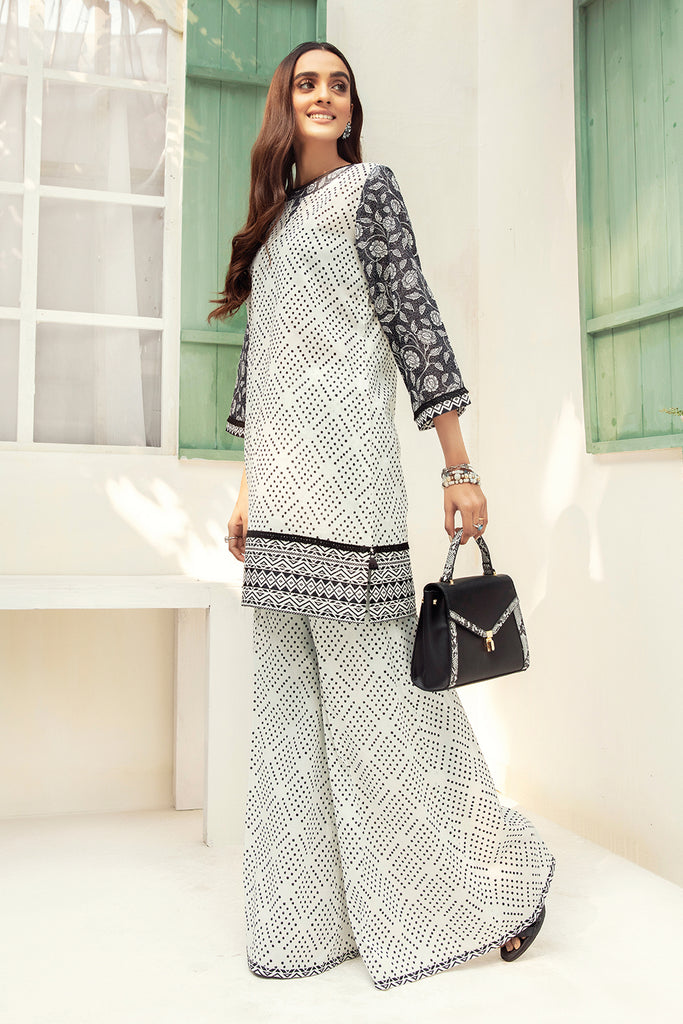 42101016-Printed Super Fine Lawn and Cambric-2PC