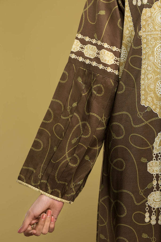 DS20-14 Printed Stitched Jalabiya – 1PC - Nishat Linen UAE
