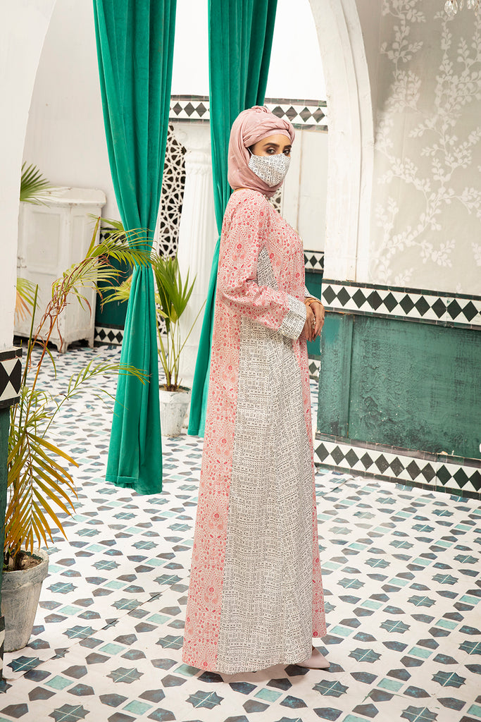DS20-72 Printed Stitched Jalabiya for Kids – 1PC - Nishat Linen UAE