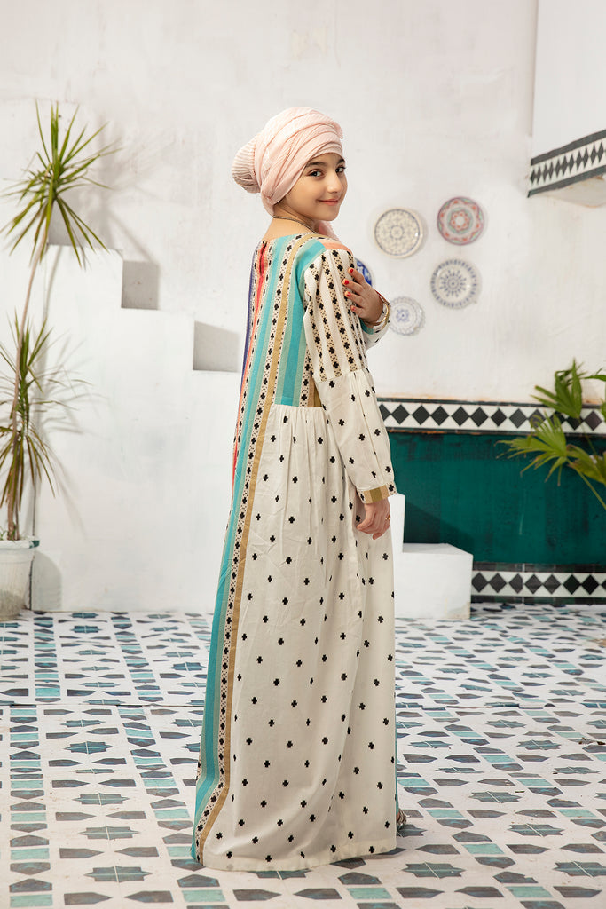 DS20-85 Printed Stitched Jalabiya – 1PC
