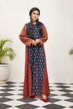 DS21-122  Digital Lawn Stitched Jalabiya with Mask – 1PC