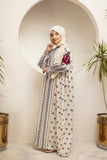 DS21-36-Digital Cambric Embroidered Stitched Jalabiya-1PC