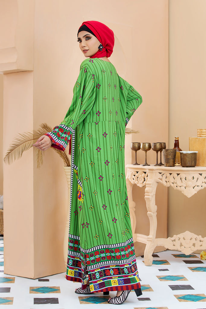 DSW20-10 Printed Stitched Jalabiya – 1PC