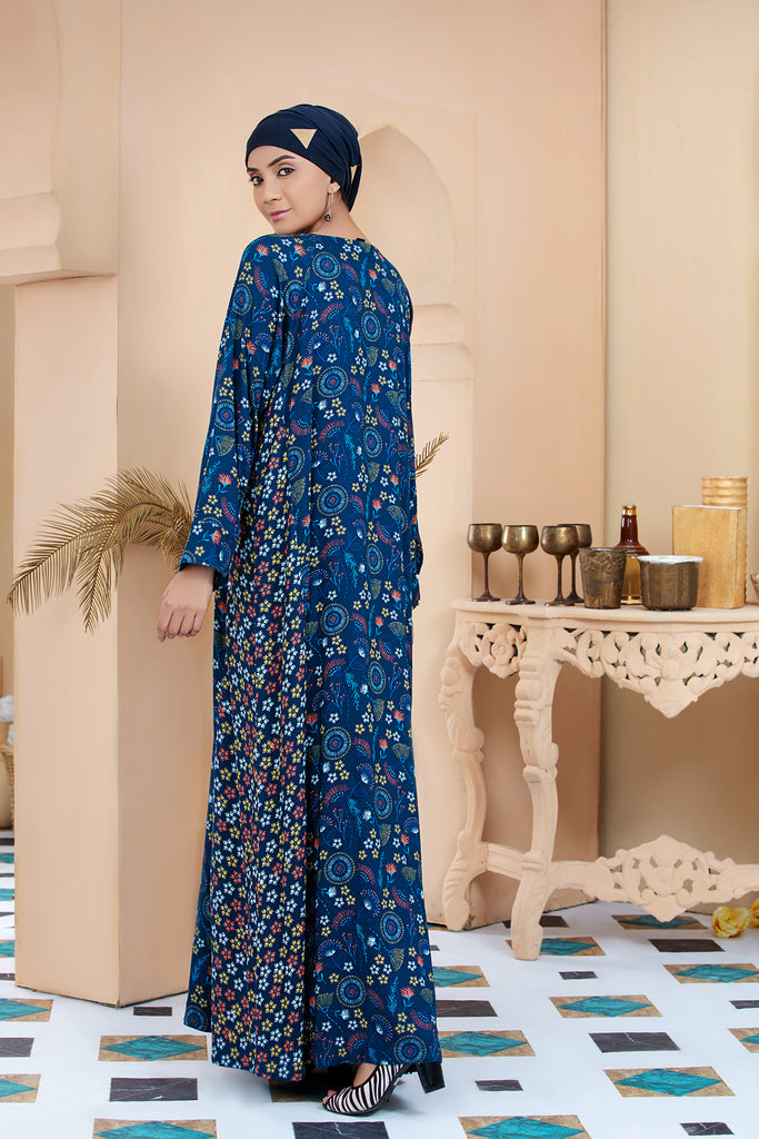 DSW20-14 Printed Stitched Jalabiya – 1PC