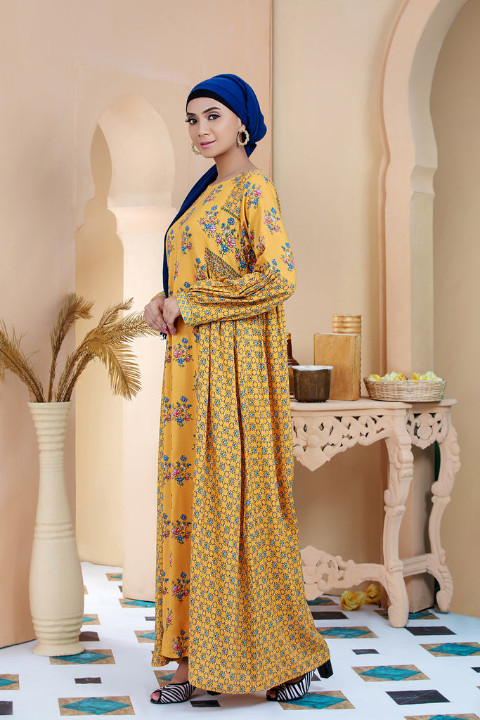 DSW20-26 Printed Stitched Jalabiya – 1PC