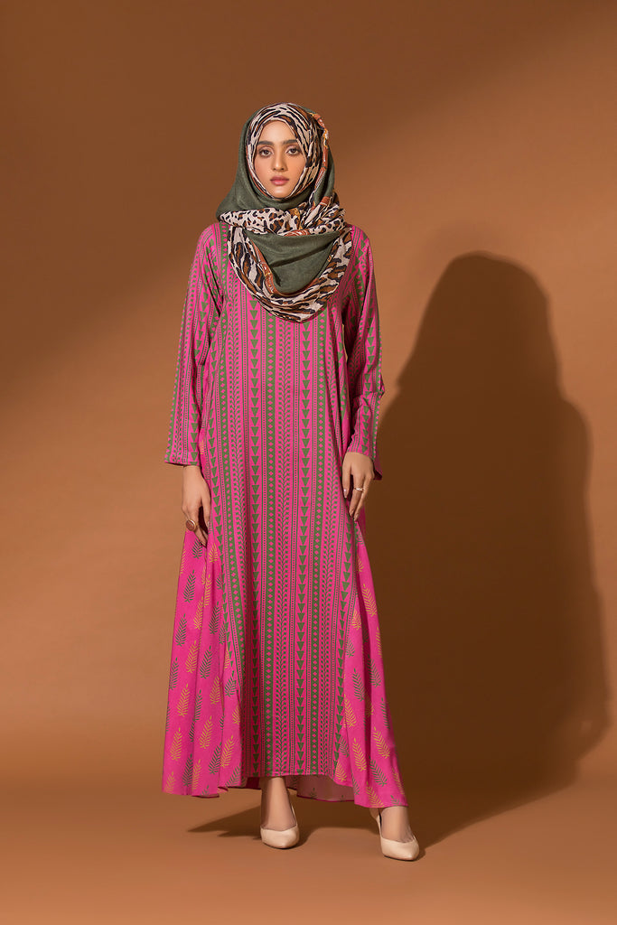 DW20-02 Printed Stitched Jalabiya for Kids - 1PC