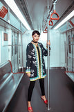 FW20-37-Digital Printed Modal Stitched Women Jacket - 1PC