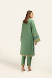 PDE21-28-Embroidery Detailing Long Classic Shirt with Straight Trouser-2PC
