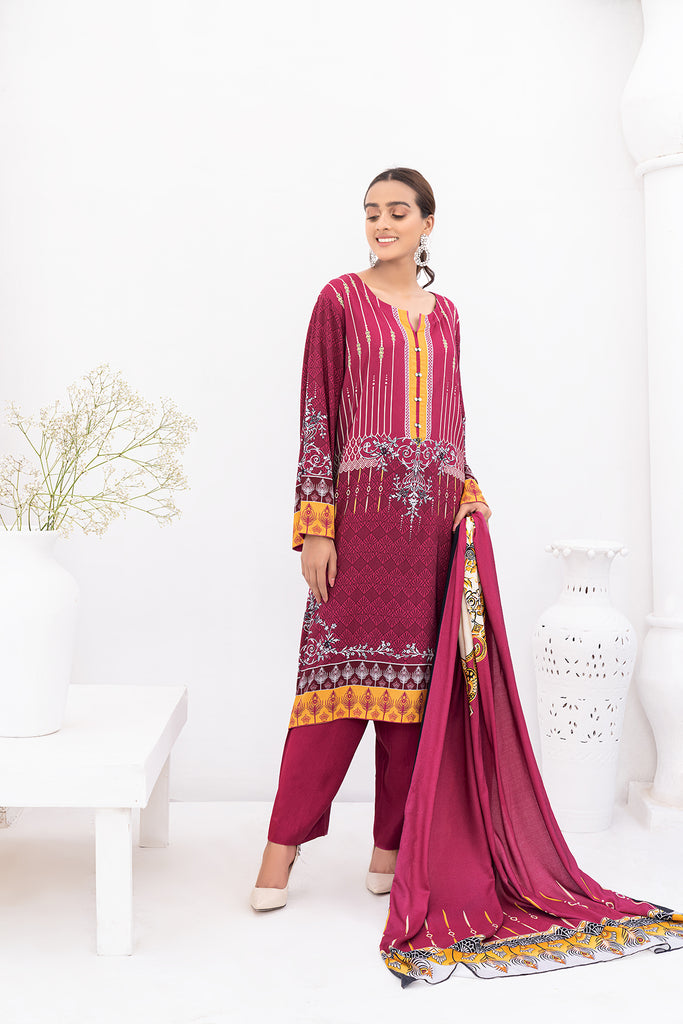 PDW20-03-Digital Printed Linen 3PC