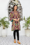 PDW20-28 Printed Stitched Linen Shirt With Mask- 1PC