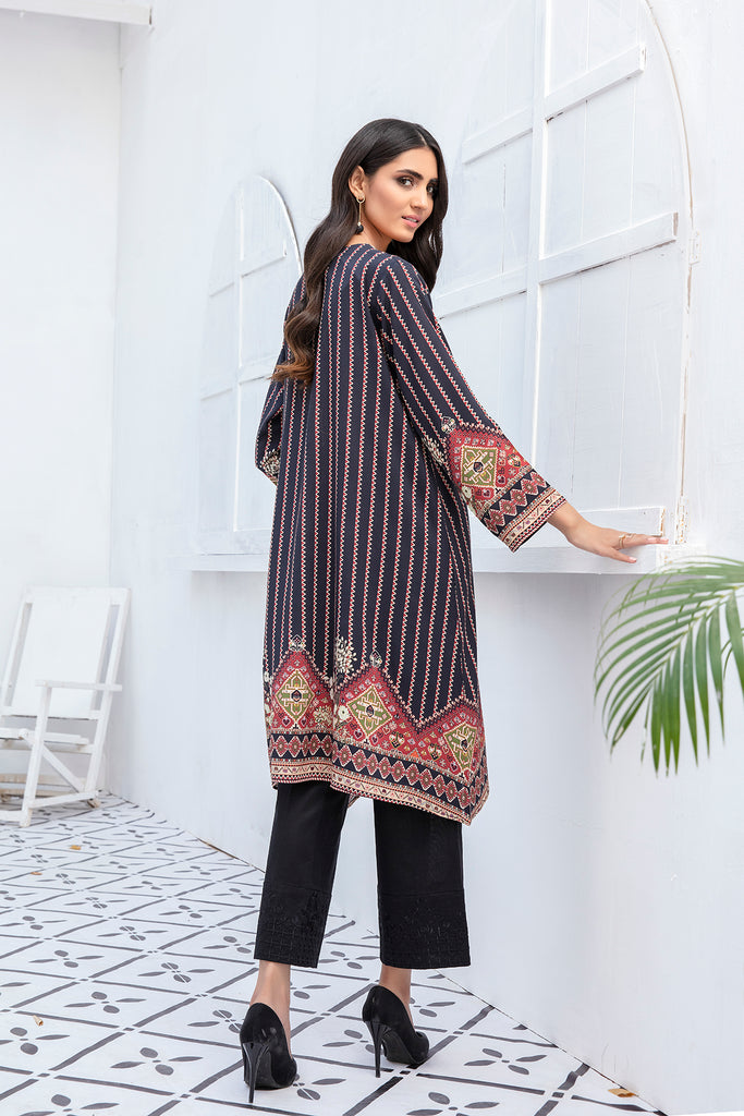 PDW20-48 Printed Stitched Linen Shirt - 1PC