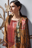 PE19-111 Orange Printed Embroidered Stitched Lawn Shirt & Dupatta - 2PC - Nishat Linen UAE