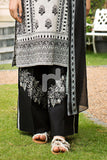 PE19-35 Black Dyed Embroidered Stitched Straight Trouser - Nishat Linen UAE