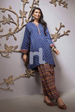 PE19-99 Blue Printed Stitched Lawn Shirt & Printed Shalwar - 2PC - Nishat Linen UAE