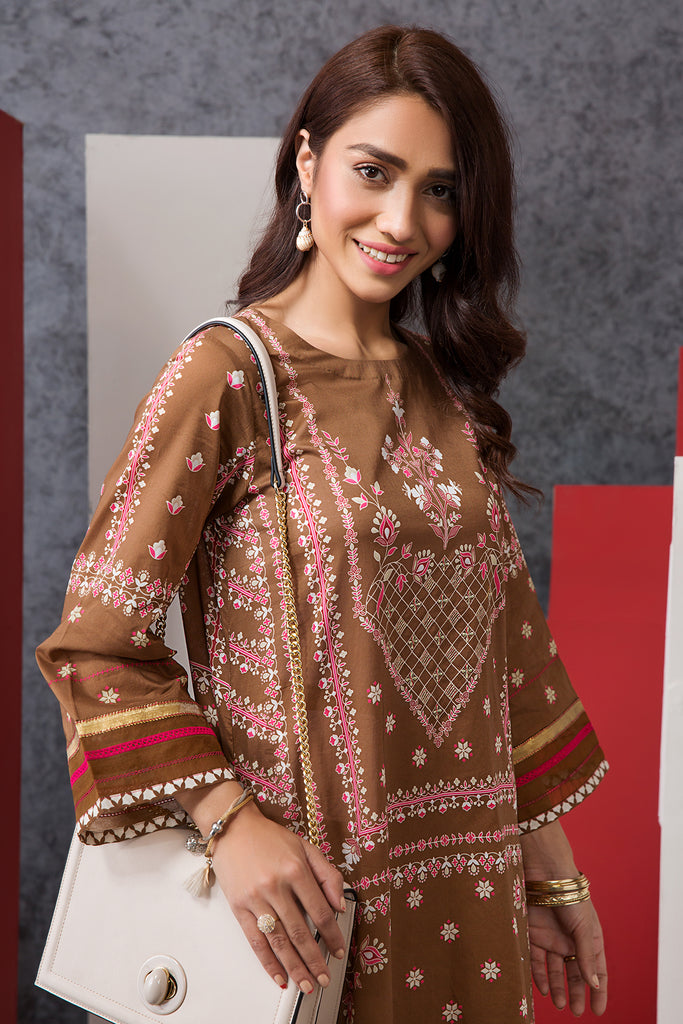 PE20-04 Dyed Embroidered Stitched Shirt - 1PC - Nishat Linen UAE