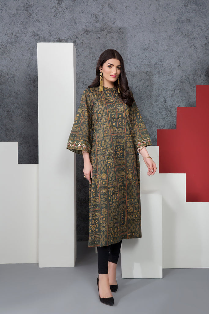 PE20-12 Printed Embroidered Stitched Shirt - 1PC - Nishat Linen UAE