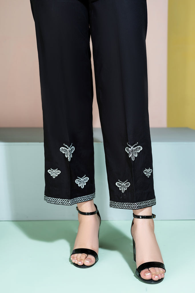 PE20-74 Embroidered Stitched Cambric Trouser