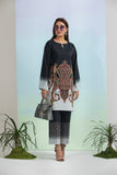PE21-03 2PC-Printed Lawn Shirt With Embroided Trouser