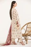 PE21-46-Mix & Match Printed Embroidered Shirt with Silk Dupatta-2PC