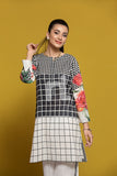 PPE19-17 Black Printed Stitched Shirt - 1PC - Nishat Linen UAE
