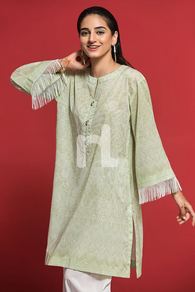 PPE19-22 Green Digital Printed Stitched Lawn Shirt - 1PC - Nishat Linen UAE