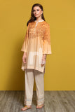 PPE19-33 Orange Digital Printed Stitched Lawn Shirt - 1PC - Nishat Linen UAE